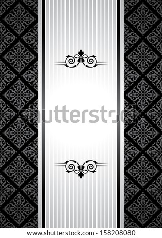 Black and white vintage background - stock photo