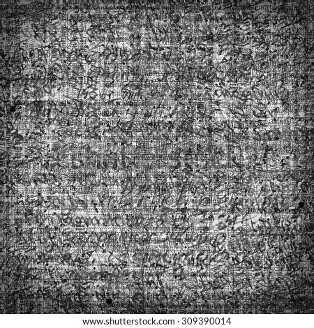 Black and white vintage paper with abstract text background - stock photo