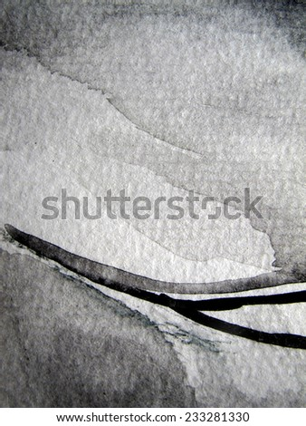 Black and white Watercolor Background 10 - stock photo