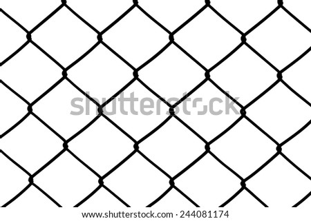 black and white wire mesh fence