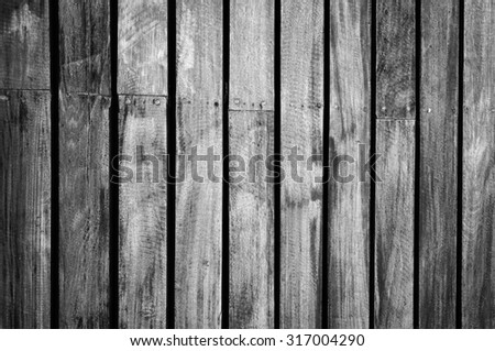 Black and White wood wall texture background - stock photo