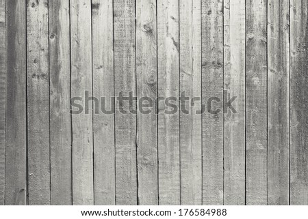 black and white wooden background, old gray wall - stock photo