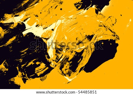 black and yellow abstract background - stock photo