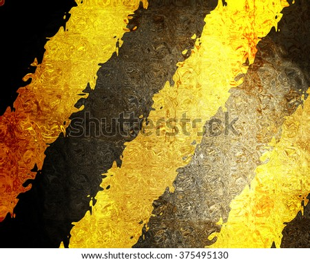 Black and yellow hazard lines - stock photo