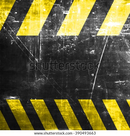 Black and yellow hazard stripes