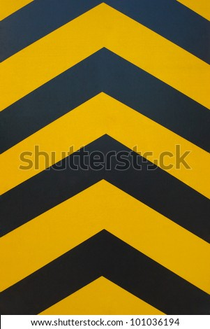 black and yellow line, hazard stripes - stock photo