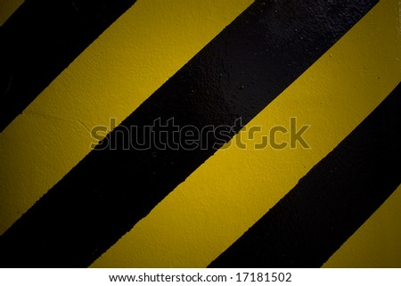 black and yellow lines - stock photo