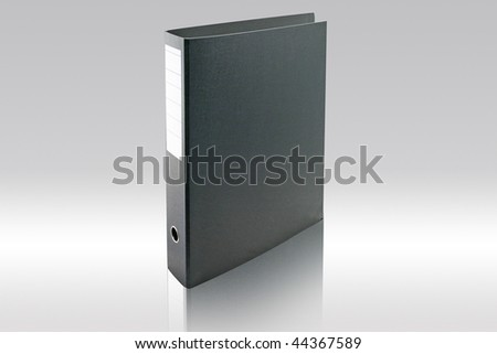 Black archive business folder. - stock photo