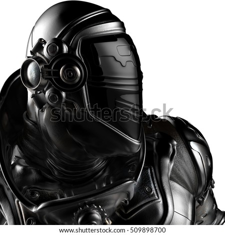 black astronaut profile picture 3d illustration