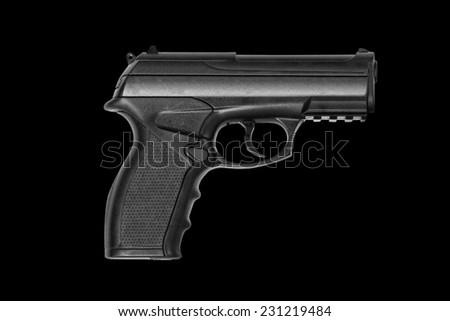 Black automatic gun - stock photo