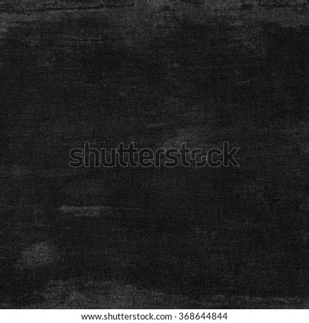 black background canvas fabric texture - stock photo
