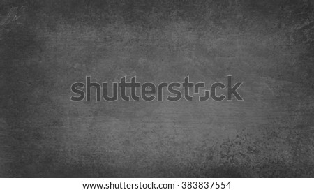 black background, chalkboard gray color with vintage texture - stock photo