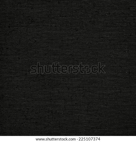 Black background from linen canvas grunge texture - stock photo