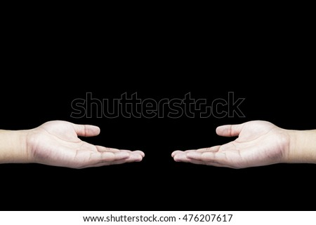 Black background, hand, hand parallel, Hands up, Left hand, right hand