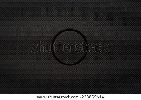 Black background of carbon fibre texture - stock photo