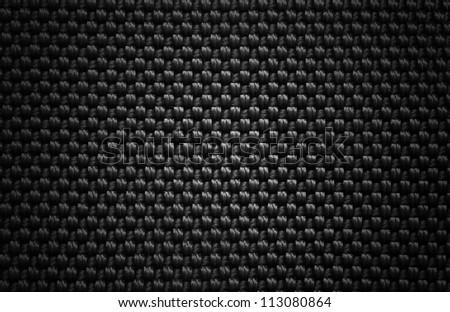 Black background of fibre texture - stock photo