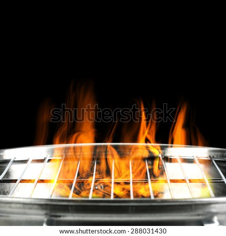 black background of fire