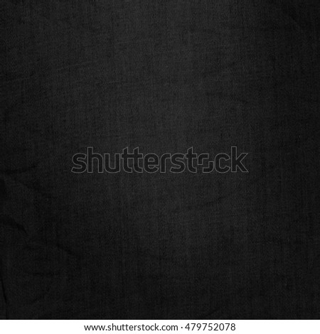 black background old canvas fabric texture to graphic design template