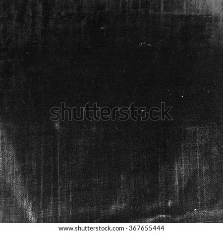 black background old canvas texture background - stock photo