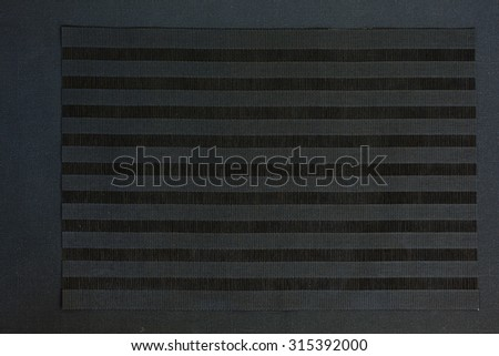 Black background or texture, black cloth with stripes