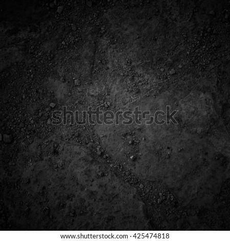 Black Background, Road Texture - stock photo