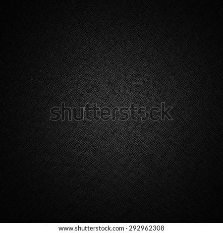 black background subtle canvas fabric texture pattern - stock photo