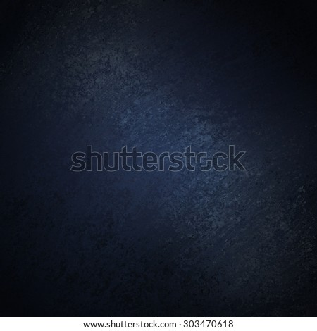 black background with dark blue center and grunge texture - stock photo