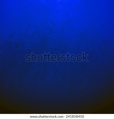 black background with grunge blue border texture, gradient bright sapphire blue color blended into dark black color, elegant classy background with sponge wall paint texture - stock photo