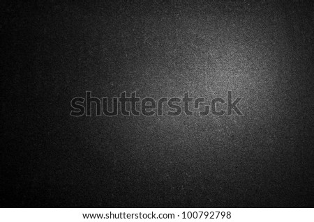 Black background with spolight - stock photo