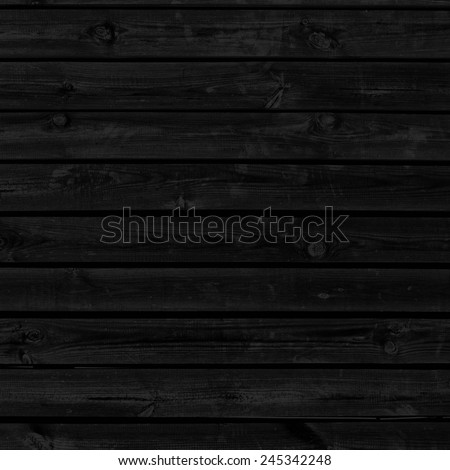 black background wood boards texture - stock photo