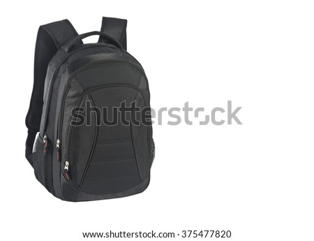 black backpack - stock photo