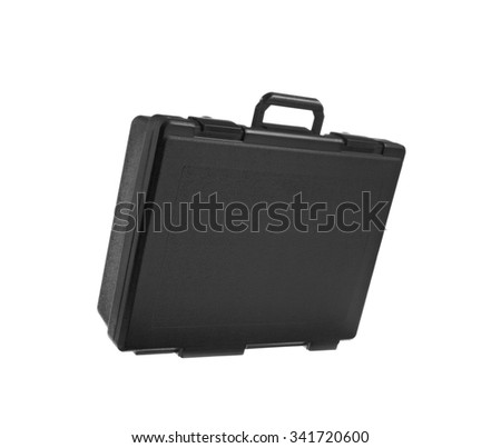 Black bag isolated on a white background.