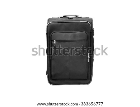 Black baggage (isolated and have clipping path)