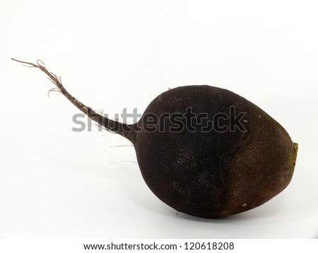 black  ball radishes - stock photo