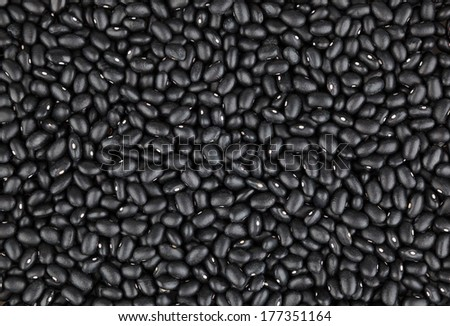 Black beans background - stock photo