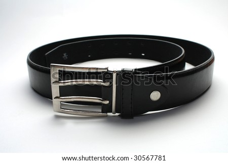 Black belt isolated on a white background