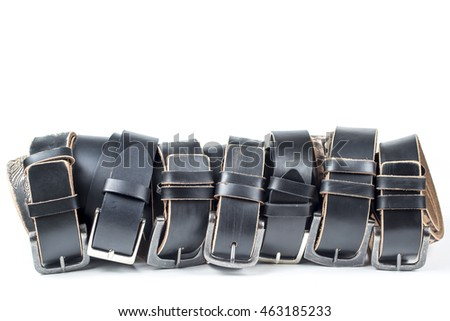 Black belt isolated on white background.