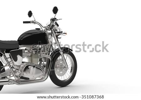 Black Bike Cut - stock photo