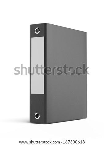 black binder - stock photo
