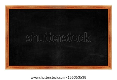 black Black chalk board . (with clipping work path) - stock photo