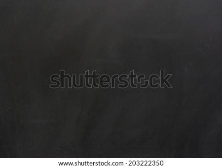 Black blank chalkboard for background - stock photo