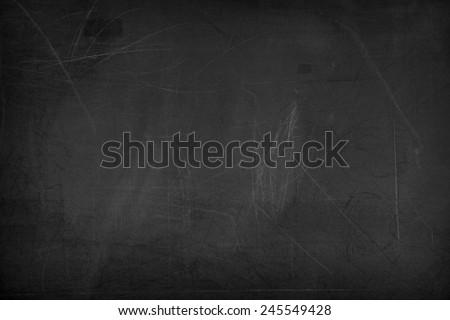Black blank chalkboard or blackboard for background - stock photo