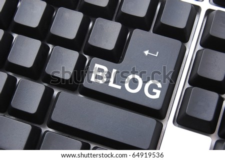 black blog enter button on a computer keyboard
