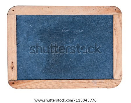 black board is isolated on a white background.
