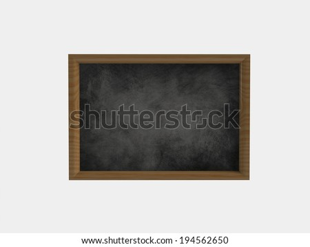 black board on a white background - stock photo