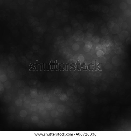 Black Bokeh background with defocused lights. Design for your cards, brochures, cover, flyers, banners, posters etc. - stock photo