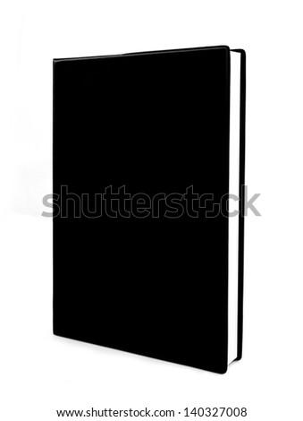 black book isolated on white background - stock photo