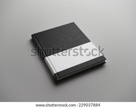 black book with white strip - stock photo