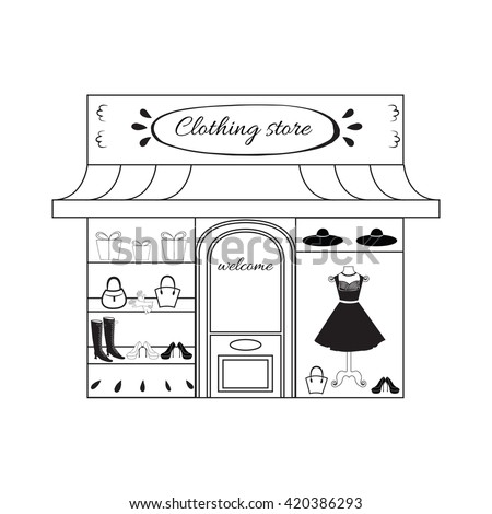 how to draw a store