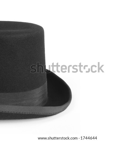 Black Bowler Hat (with copy space)